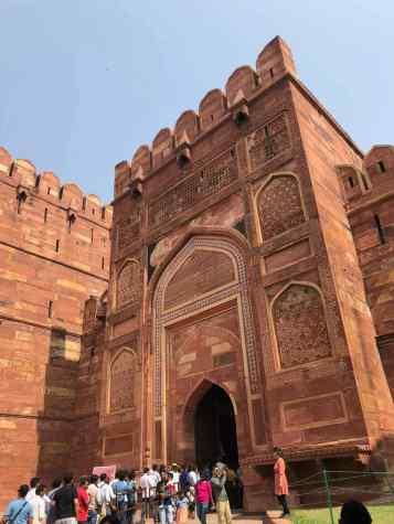 Entrée du Fort Rouge - Agra - Inde