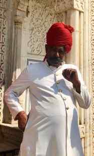 Personnel du City Palace - Joli turban ! - Jaipur - Rajasthan