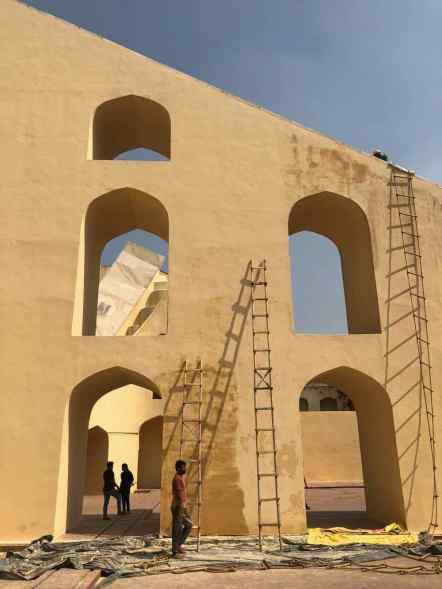 Travaux de peinture - Jantar Mantar - Jaipur - Rajasthan