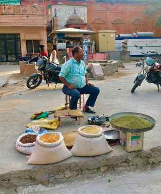 Vendeur de céréales - Jaipur - Rajasthan