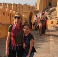 Rampe d'accès au palais, avec les éléphants - Amber Palace - Rajasthan - Inde