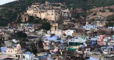 Le palais de Bundi au dessus de la ville - Rajasthan - Inde