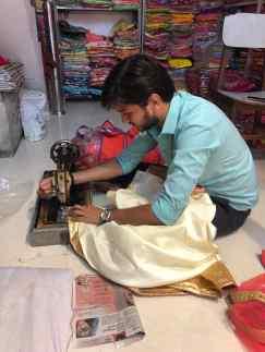Ajustement de dernière minute sur mesure - Bundi - Rajasthan - Inde