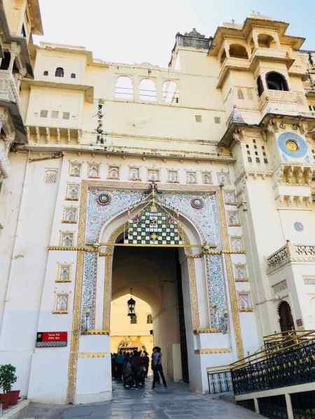 Porte d'entrée du City Palace - Udaipur - Rajasthan - Inde