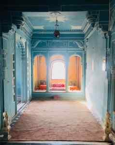 Salon Bleu de Maharaja - City Palace - Udaipur - Rajasthan - Inde