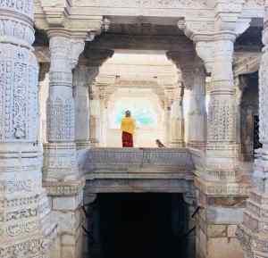 Silhouette de Juliette - Ranakpur - Rajasthan - Inde