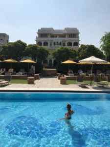Piscine et vue sur l'hôtel - Narlai - Rajasthan - Inde