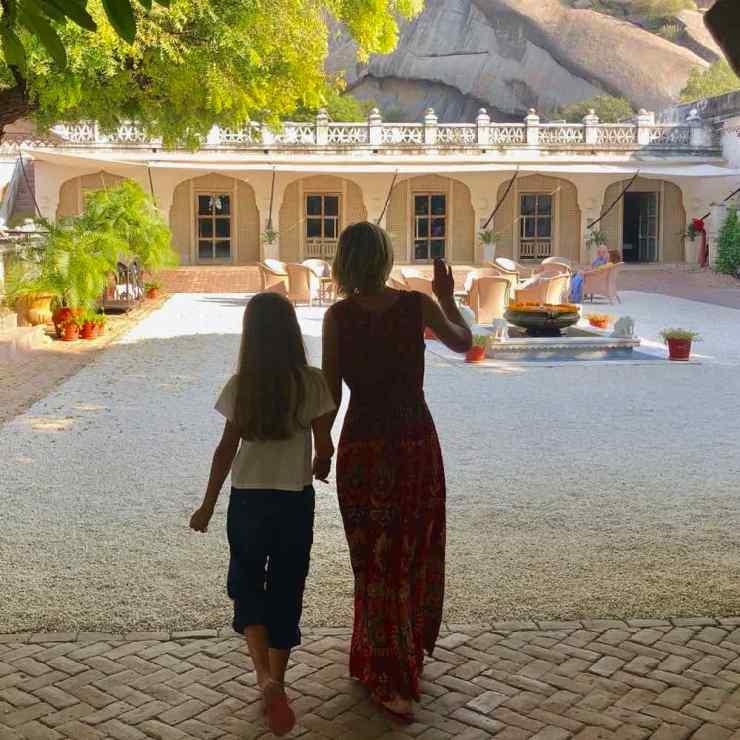 Cours d'accueil de notre hôtel - Narlai - Rajasthan - Inde