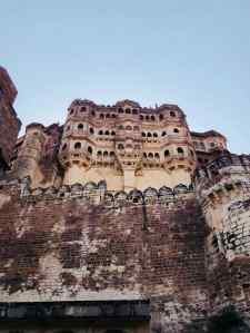 Palais sur les hauteurs du fort de Jodhpur - Rajasthan - Inde