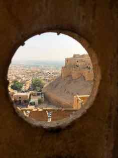 Vue sur les tourelles- Fort de Jaisalmer - Rajasthan - Inde