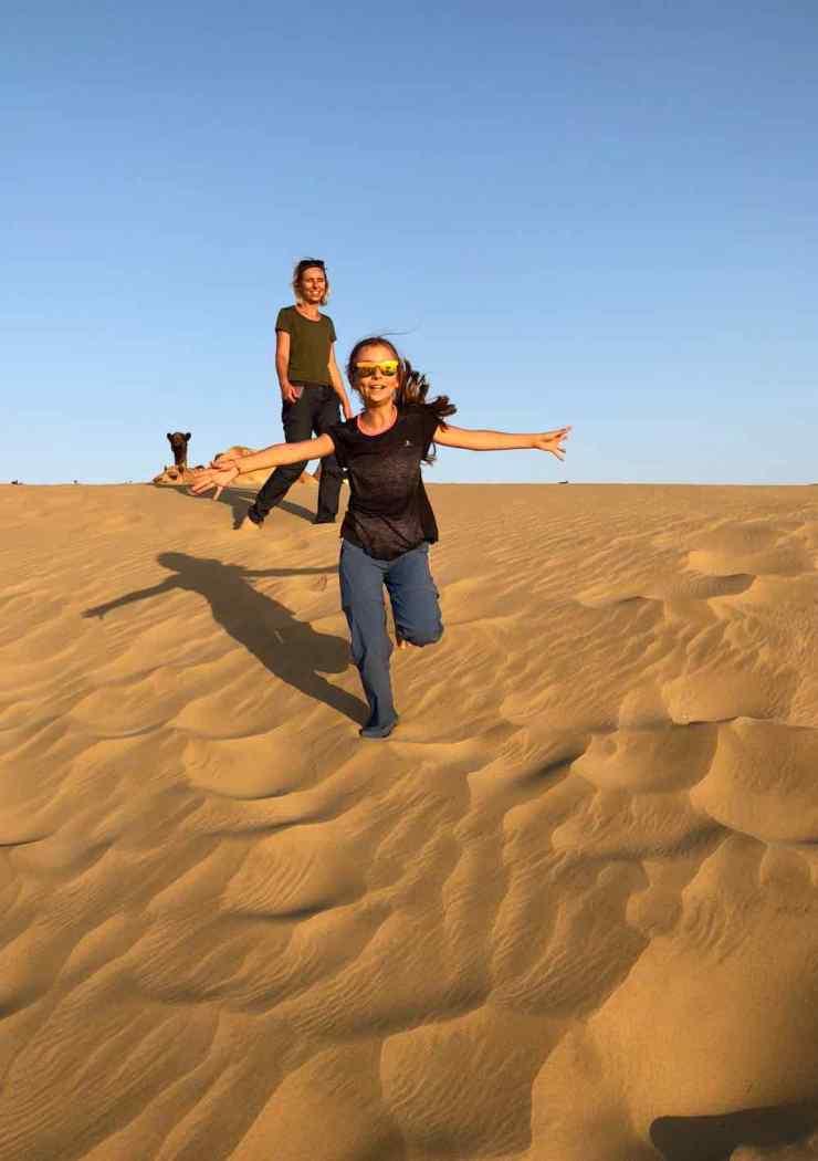 Courir dans les dunes - Désert du Thar - Rajasthan - Inde