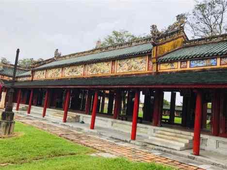 Galeries rénovées de la Cité Impériale - Hue - Vietnam