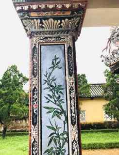 Pavillon de la littérature - Détail de colonne - Hue - Vietnam