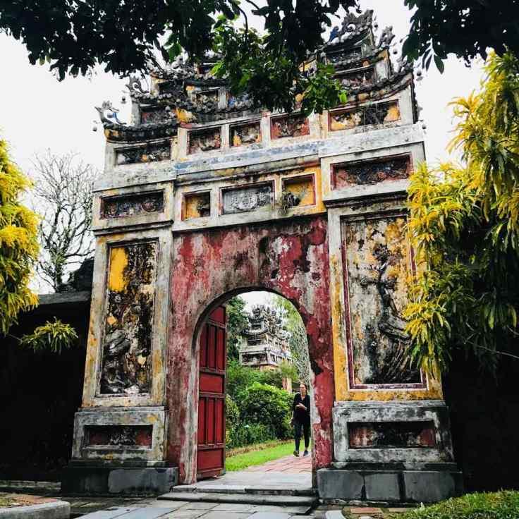 L'une des portes latérales - Cité Impériale - Hue - Vietnam