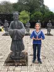 Eden et le Mandarin de pierre - Mausolée de Khai Dinh - Hue - Vietnam