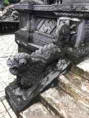 Dragon de l'escalier monumental - Mausolée de Khai Dinh - Hue - Vietnam
