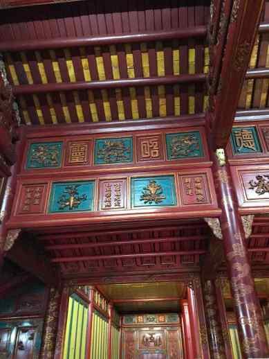 Temple du culte des empereurs NGuyen - Plafond - Cité Impériale - Hue - Vietnam