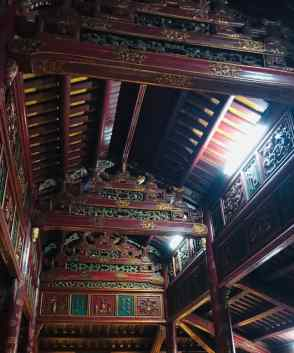 Mausolée de Ming Mang - Plafond - Cité Impériale - Hue - Vietnam