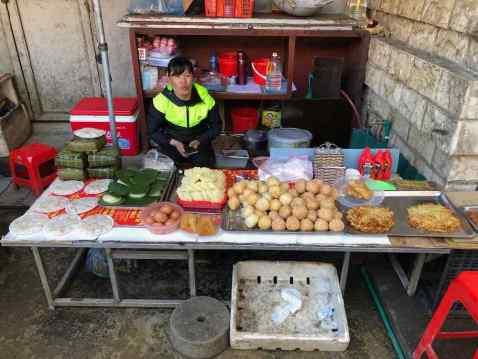 Etal de bonnes choses - Marché de Sapa - Vietnam