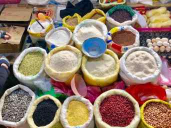 Céréales sur le marché de Sapa - Vietnam