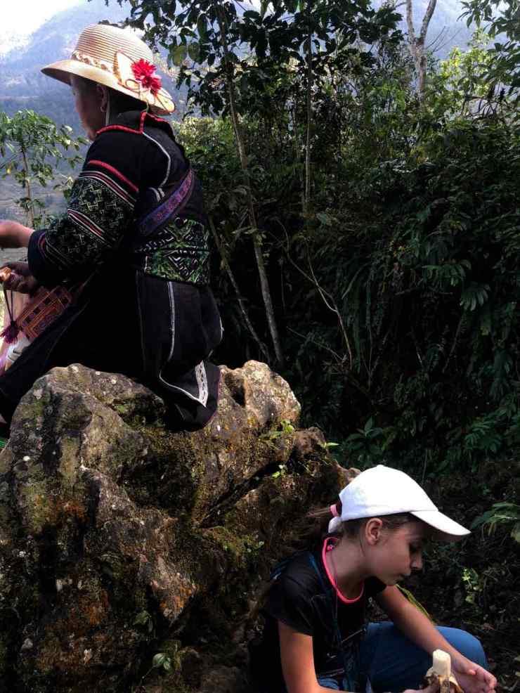 Petite pause après la grimpette - Région de Sapa - Vietnam