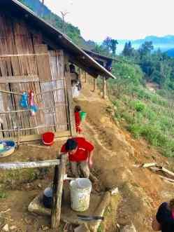 La maison de Sing et sa source naturelle - Région de Sapa - Vietnam