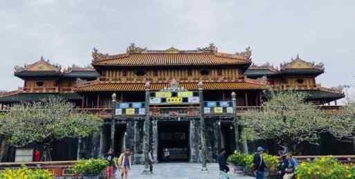 La porte du Midi vue de l'intérieur - Cité Impériale - Hue - Vietnam