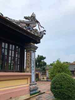 Pavillon de la littérature - Détail du toit - Cité Impériale - Hue - Vietnam