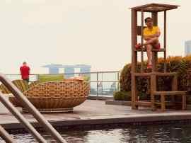 Trop dure la vie de maitre nageur - Hotel Jen - Singapour