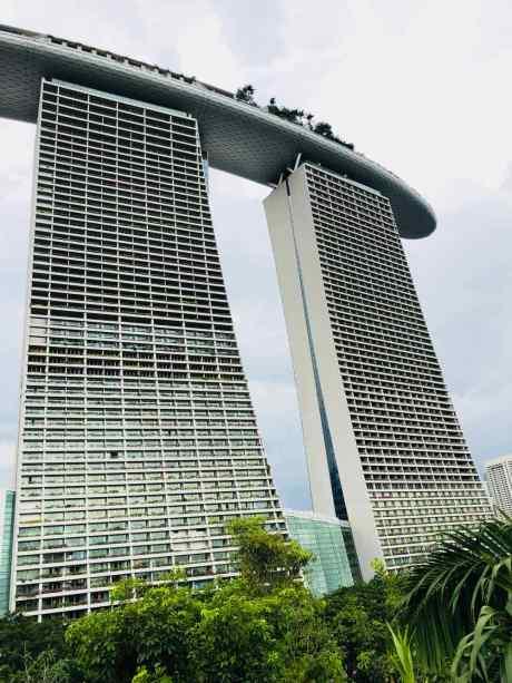 Au pied du Marina Bay Sand - Singapour