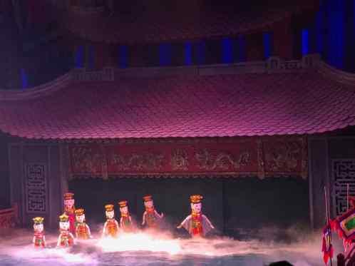 Spectacle de marionnettes sur l'eau - Hanoi - Vietnam