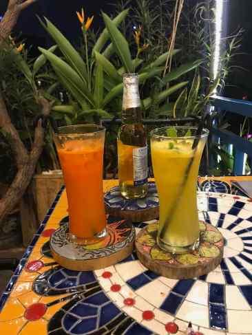 Jus de Fruits frais et Bière - Eden Bar - Hanoi - Vietnam