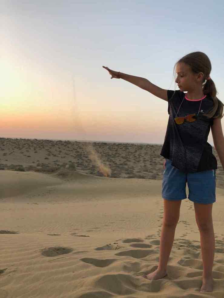 Magie du sable dans les dunes - Désert du Thar - Rajasthan - Inde