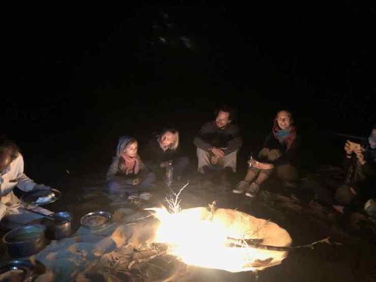 Veillée au feu de camp - Désert du Thar - Rajasthan - Inde
