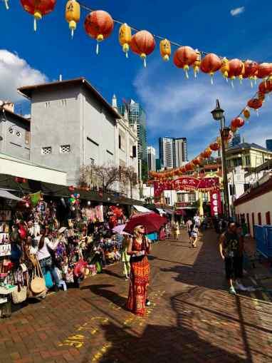 Dans le marché de Chinatown - Singapour