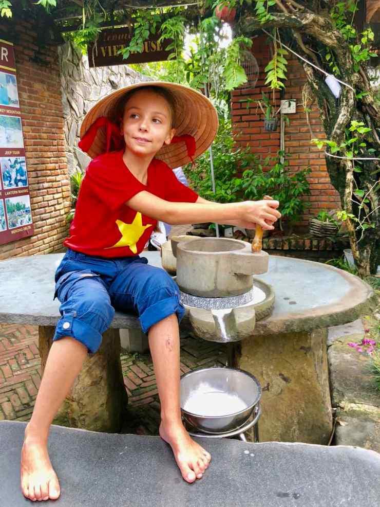 Eden et le moulin à riz - Cours de cuisine à Hoi An - Vietnam