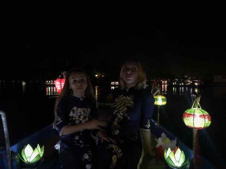 Balade Nocturne en bateau - Hoi An - Vietnam