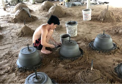 Fabrique de pots à Bonzaïs - Can Tho - Vietnam
