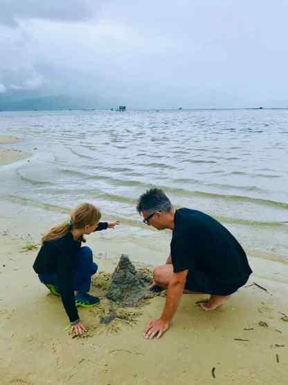 Château de sable, quelle que soit la meteo - Région de Hue - Vietnam