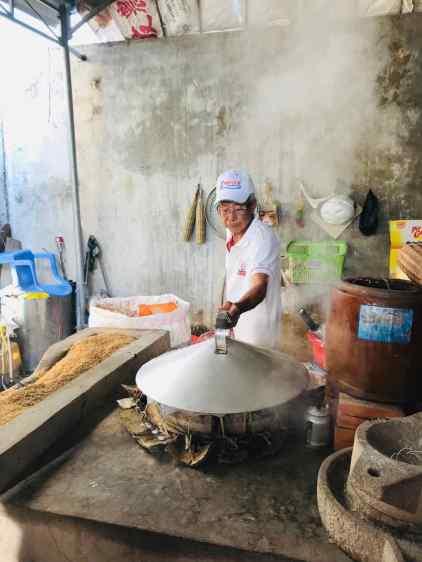 Fabrication de la pâte de riz - Can Tho - Vietnam
