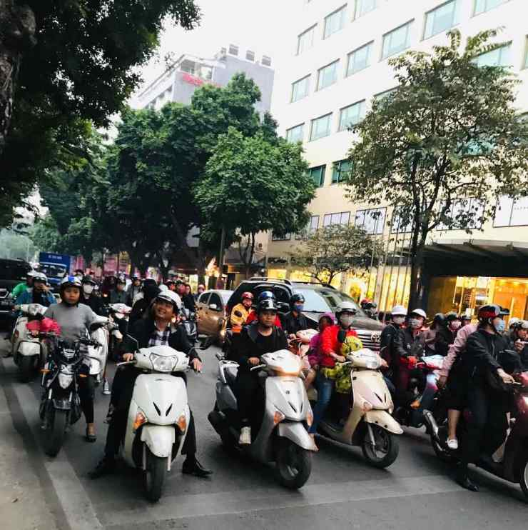 Nuées de Scooters - Saigon - Vietnam