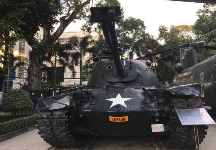 Tank des forces US - Musée de la Guerre - Saigon - Vietnam