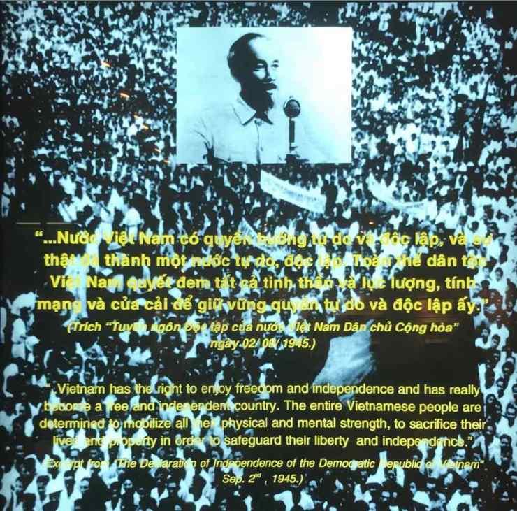 Discours d'indépendance d'Ho Chi Minh - Musée de la Guerre - Saigon - Vietnam