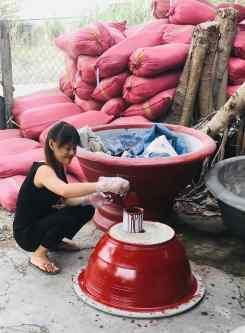 Fabrication de pots à bonzaïs - Can Tho - Vietnam