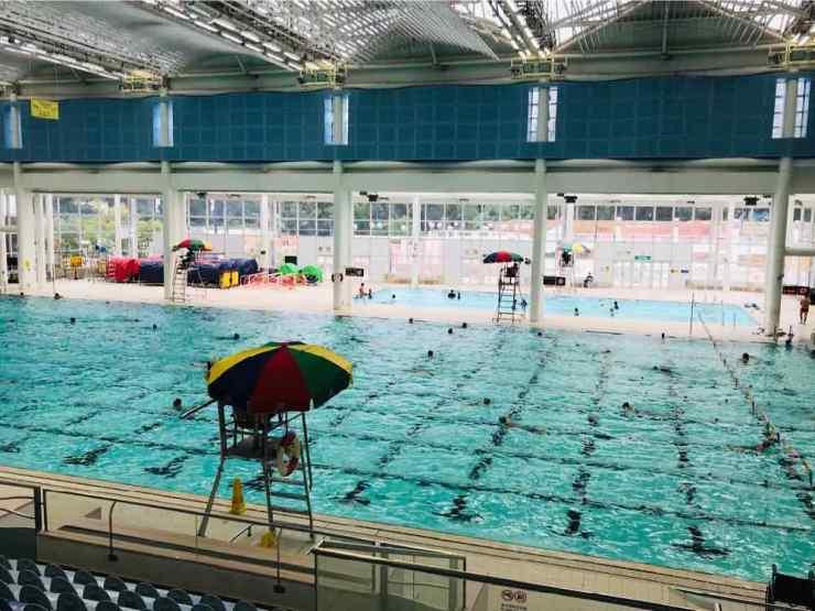 La piscine Olympique du Parc de Hong Kong