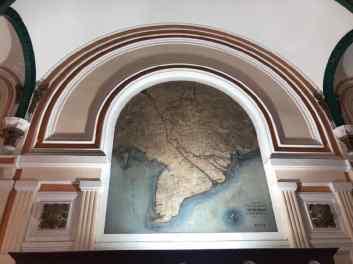 Carte de l'Indochine dans la gare de Saigon - Vietnam