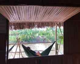 Vue de notre chambre côté rivière - Mekong - Can Tho - Vietnam