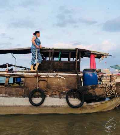 Fière capitaine - Marché flottant - Can Tho - Vietnam