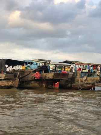 La vie sur les bateaux - Marché flottant - Can Tho - Vietnam