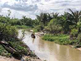 Le petit bras de Mekong derrière notre bungalow - Can Tho - Vietnam